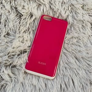 iPhone 6 Plus Case Pink Slider for Cards